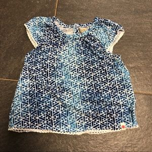 24 months Lucky Brand blue and white shirt